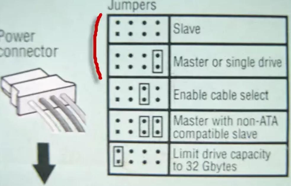 Схема перемычек жесткого диска