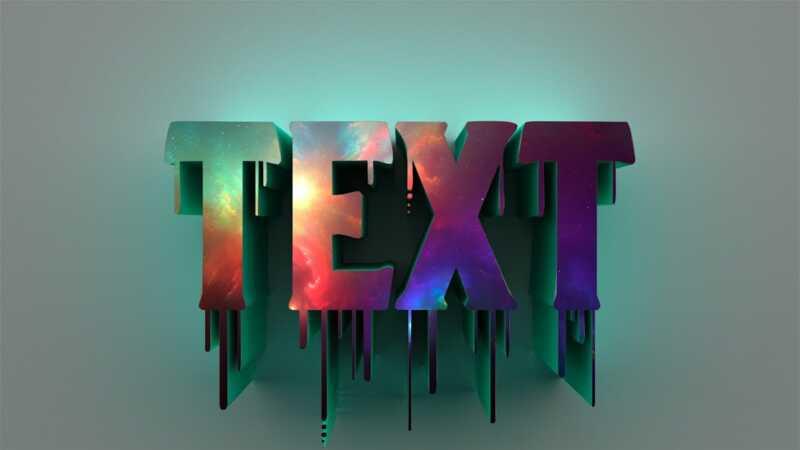 Как сделать объемный текст в фотошопе